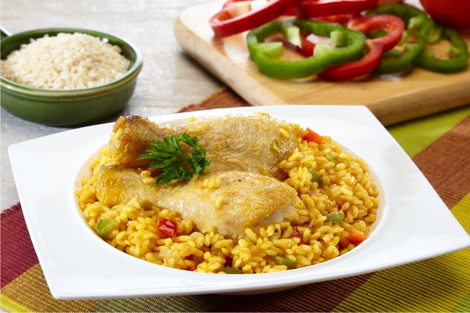 Coxinhas de frango com arroz